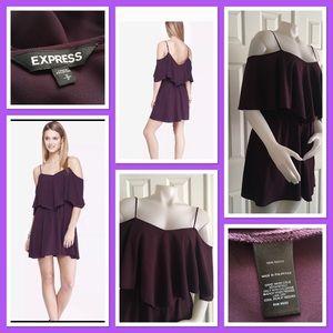 Express Purple Cold Shoulder Dress S/P